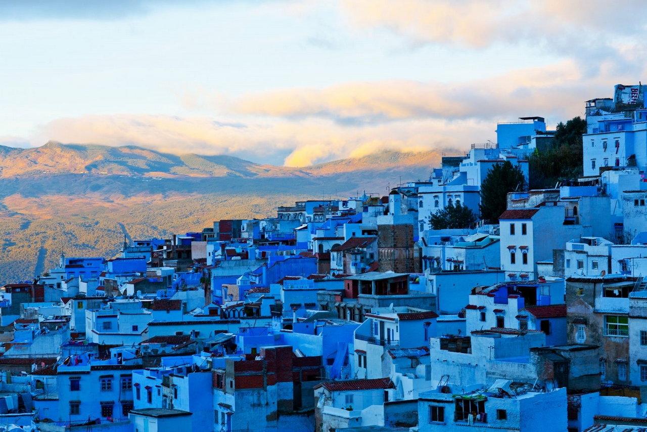 синий марокко художественные фото пронизало