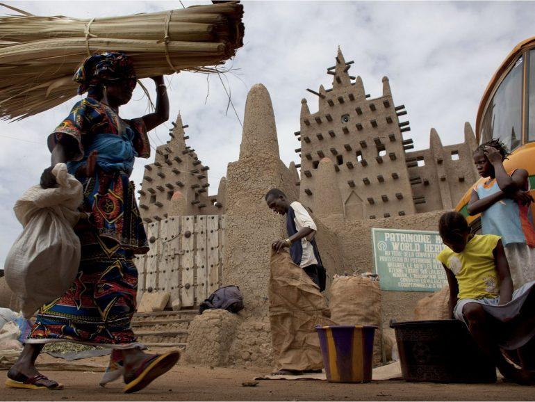 Мали на карте африки